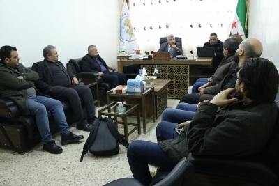 زيارة لجامعة حلب في المناطق المحررة في اعزاز بريف حلب