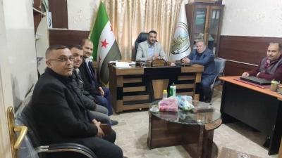 زيارة مجلس محافظة حلب الحرة