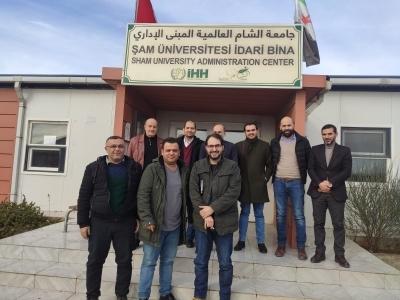 زيارة جامعة شام العالمية في المناطق المحررة في اعزاز بريف حلب