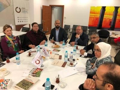 اجتماع مع المجلس السوري الأمريكي لمناقشة التطورات العامة في الملف السوري
